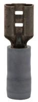 """Picture of TERMINAL FEMALE NYLON-INS 16-14 GAUGE, .205"""" TAB"""