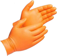 Picture of NITRILE GLOVES 8 MIL LARGE HI-VIS ORANGE 100/BOX